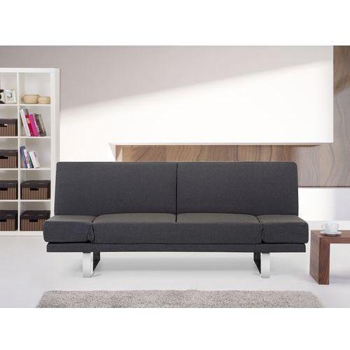 Rozkladana sofa ruchome podlokietniki - YORK ciemny szary, Beliani
