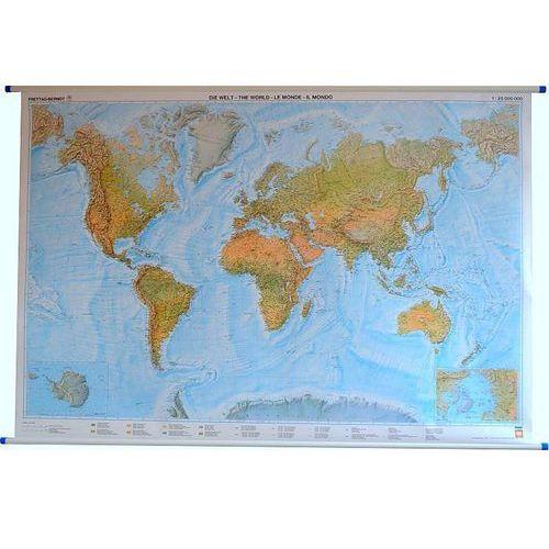 Świat mapa ścienna fizyczna 1:25 000 000 Freytag & Berndt, produkt marki Freytag&Berndt