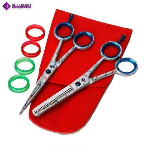 GLAMTECH ONE SET Limited edition scissor and thinner - nadruk nożyczek 5,5 cala oferta ze sklepu Hair & Beauty