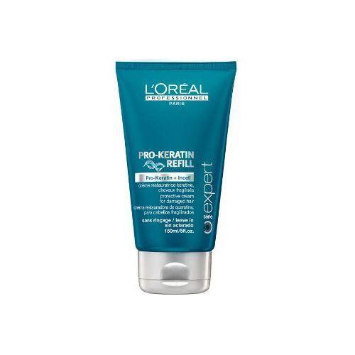 Produkt z kategorii- pozostałe kosmetyki do włosów - LOREAL PRO KERATIN REFILL cement termiczny - 150 ml