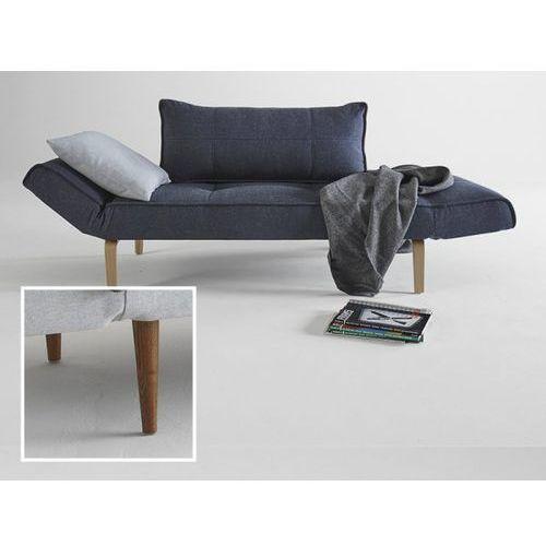 Sofa Zeal granatowa 515 nogi ciemne drewno  740021515-2-740021-3, INNOVATION iStyle