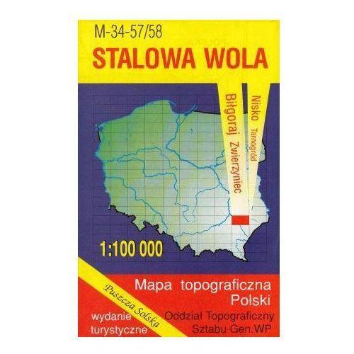 M-34-57/58 Stalowa Wola. Mapa topograficzno-turystyczna 1:100 000 wyd. WZ-Kart, produkt marki Wojskowe Zakłady Kartograficzne
