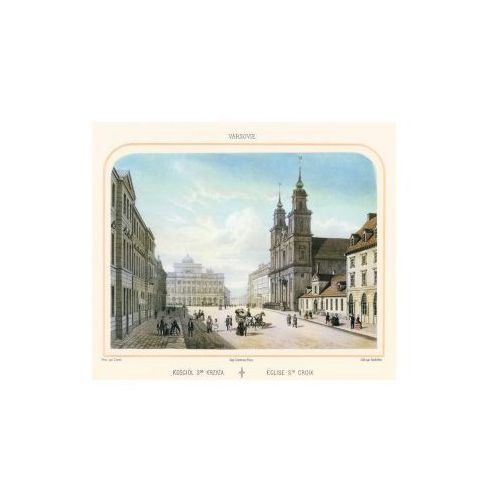 Litografia Kościół Św. Krzyża, C.C. Bachelier, 1858 r., produkt marki Golden Maps Publishing