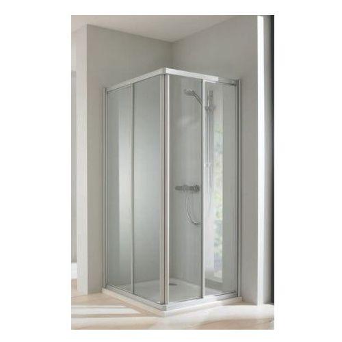 HUPPE CLASSICS ELEGANCE Wejście narożnikowe (1/2) drzwi 2-częściowe 90x190, srebrny mat, szkło transp. 50