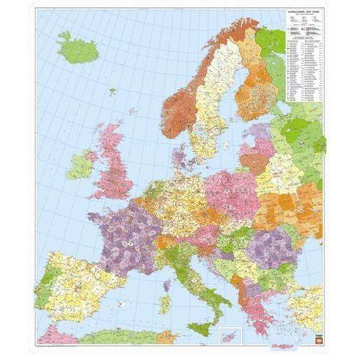 Europa. Mapa ścienna kodów pocztowych w arkuszu 1:3,7 mln wyd. , produkt marki Freytag&Berndt