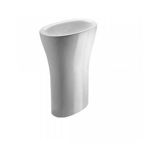 Catalano Muse Umywalka wolnostojąca, odpływ poziomy, biały błyszczący - 1FRPMU00 ()