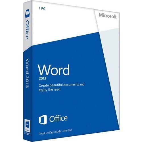 Produkt z kategorii- pozostałe oprogramowanie - Microsoft Word 2013 32/64bit PL Win ESD