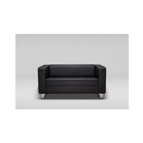 Sofa CUBBY dwuosobowa skóra naturalna / płozy chrom, Marbet Style