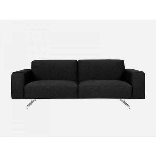Sofa Linus 3 seater DIVINE 55 black tkanina czarna  E1777-0400-2S-DIVINE55, Sits