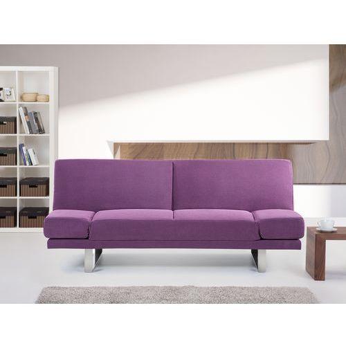 Rozkladana sofa ruchome podlokietniki - YORK fuksja, Beliani