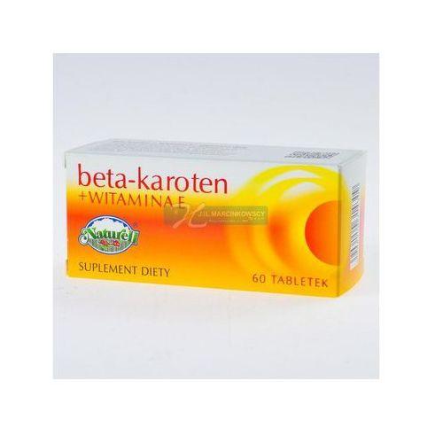 Beta Karoten + wit.E x 60 tabl.NATURELL, postać leku: tabletki