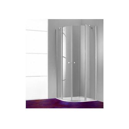 Huppe 501 Design pure Drzwi skrzydłowe ze stałymi segmentami,2-częściowe - 100/190cm srebrny matowy Szkło