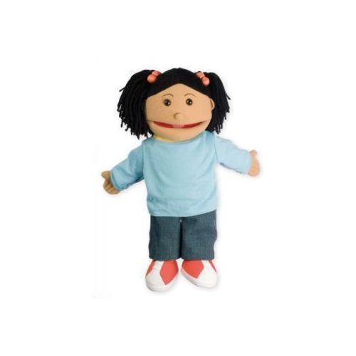Mała dziewczynka - pacynka z ruchomą buzią / 38 cm (pacynka, kukiełka)