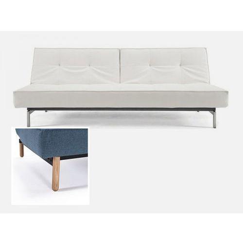 Sofa Splitback biała 588 nogi jasne drewno Stem  741010588-741041-1-2, INNOVATION iStyle