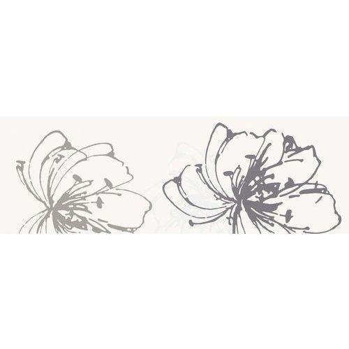 Midian Bianco Inserto Kwiat A 20x60 (glazura i terakota)