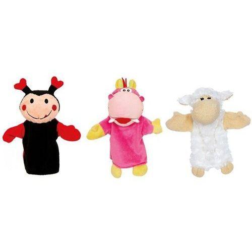 Oferta Zestaw 3 pacynek na rękę. Biedronka, hipopotam, owca, small foot (pacynka, kukiełka)