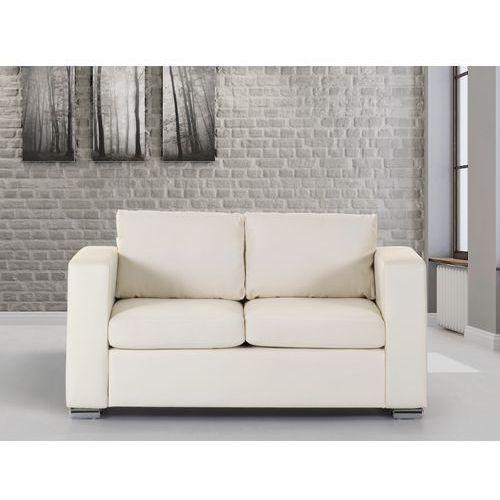 Skórzana sofa dwuosobowa bezowa - kanapa - HELSINKI, Beliani