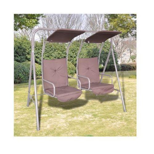 Huśtawka ogrodowa z dwoma miejscami i zadaszeniem, vidaXL