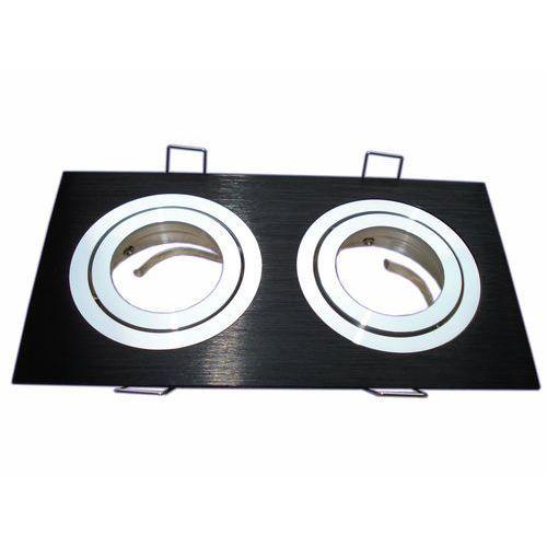 Oprawa punktowa ruchoma HDC-DTL2-50-AL 2X aluminium kwadrat czarna z kategorii oświetlenie