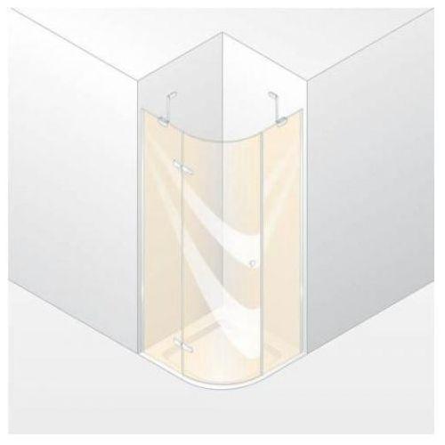 Huppe Enjoy Elegance Drzwi skrzydłowe ze stałymi segmentami, 1-częsciowe, montaż na brodziku o promieniu 5