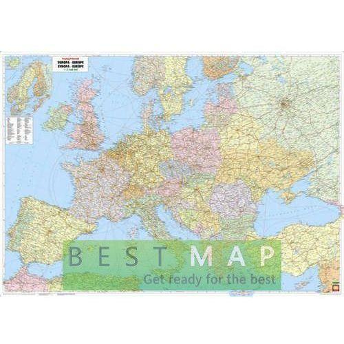 Europa. Mapa ścienna administracyjno-drogowa w ramie 1:2,6 mln wyd. , produkt marki Freytag&Berndt