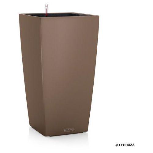 Donica  CUBICO COLOR - muszkatołowy - 40 x 40 x 75 cm - muszkatołowy, produkt marki Lechuza
