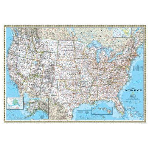 Stany Zjednoczne (USA). Mapa ścienna Classic magnetyczna w ramie 1:2,8 mln wyd. , produkt marki National Geographic