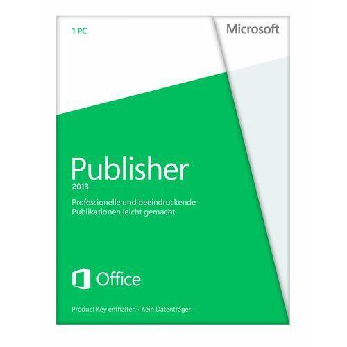 Produkt z kategorii- pozostałe oprogramowanie - Microsoft Publisher 2013 32bit/x64 ENG Win ESD
