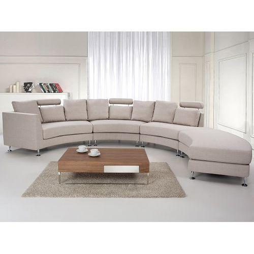 Pólokragla sofa tapicerowana - kanapa bez - tkanina obiciowa - ROTUNDE, Beliani