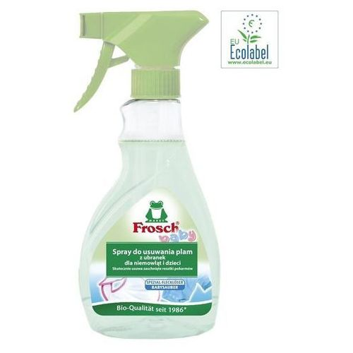 FROSCH Baby Odplamiacz do ubrań dziecięcych spray 500ml (wybielacz i odplamiacz do ubrań) od Bliżej Ciebie
