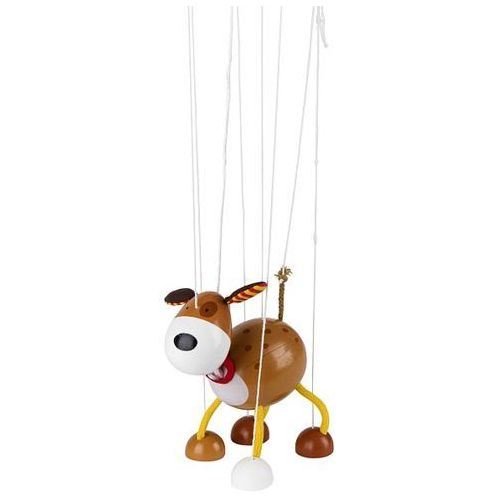 Drewniana marionetka, Piesek Łatek, 51755-goki, zabawki drewniane (pacynka, kukiełka)