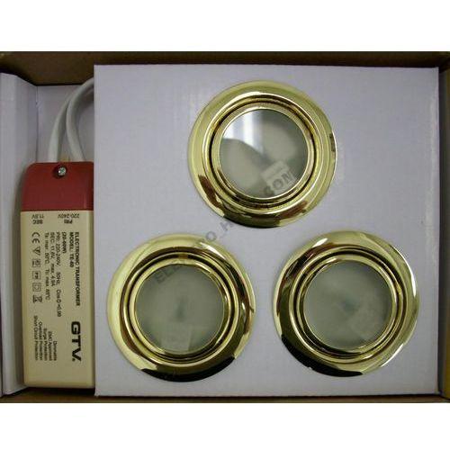 GTV Zestaw opraw meblowych ZH-320 3x20W złoto z kategorii oświetlenie