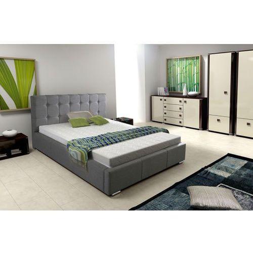 SOFIA łóżko tapicerowane 160 x 200 - tkanina beżowa ze sklepu Meble Pumo