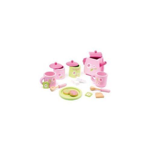 Zabawkowy różowy serwis do herbaty (17 elementów) oferta ze sklepu www.epinokio.pl
