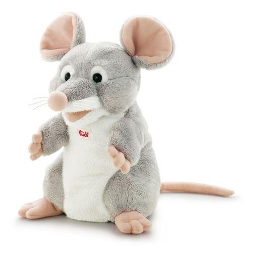Pluszowa pacynka na rękę, przytulanka, Szara myszka To, 29913-Trudi, zabawa w teatrzyk (pacynka, kukiełka)