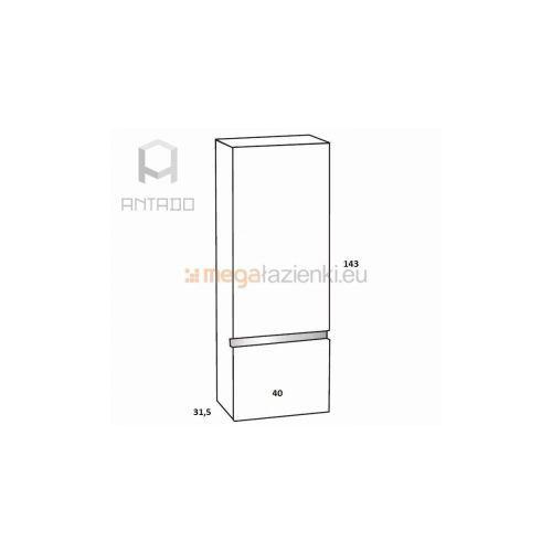 Antado Cantare FSM-392 regał wysoki lewy biały połysk - produkt z kategorii- regały łazienkowe