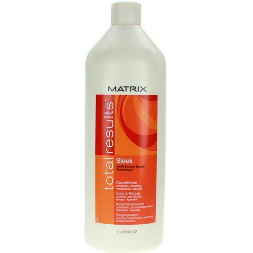 Matrix Total Results Sleek Conditioner - Odżywka wygładzająca do włosów niezdyscyplinowanych 1000ml - produkt z kategorii- odżywki do włosów