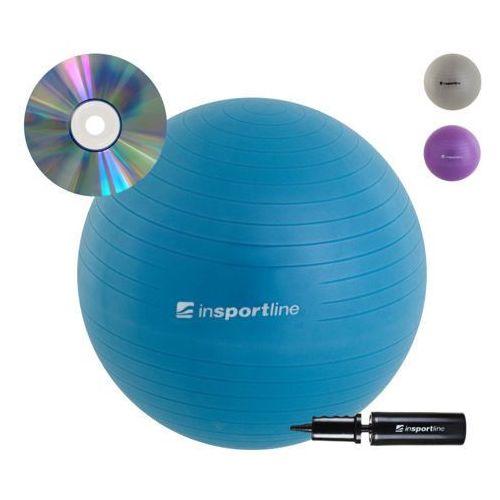 inSPORTline Comfort Ball 75 cm - IN 3916-3 - Piłka fitness+DVD, Niebieska od PilkiFitness.Pl