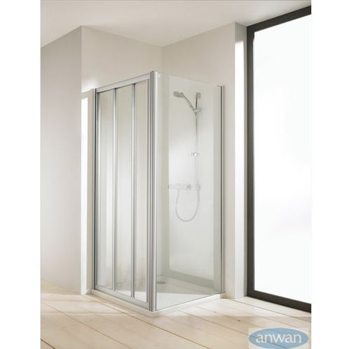 Huppe Classics elegance drzwi suwane z nieruchomym segmentem 501031 (drzwi prysznicowe)