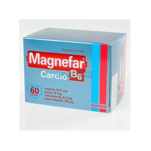 Magnefar b6 cardio x 60 tabl, postać leku: tabletki