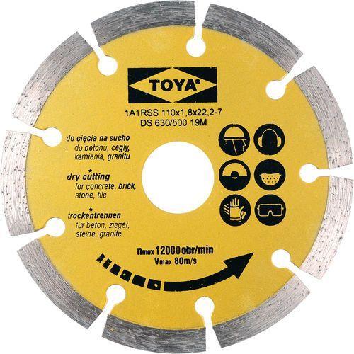 Tarcza diamentowa 110 mm segmentowa / SZYBKA WYSYŁKA / BEZPŁATNY ODBIÓR: WROCŁAW ze sklepu Toya24