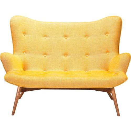 Angels Wings Sofa 2 Osobowa Musztardowa Tkanina - 78920, Kare Design