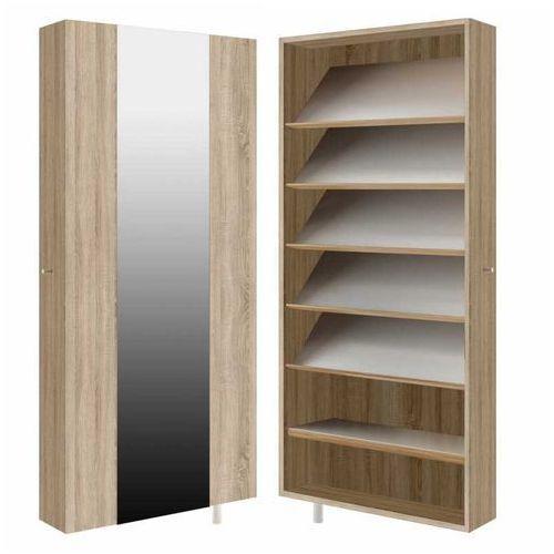 STRIP szafa obrotowa z lustrem wąska - buciarka z półkami, marki Meblemix do zakupu w MebleMix