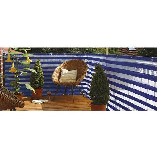 Osłona balkonowa niebiesko-biała , 500x90cm, produkt marki Videx