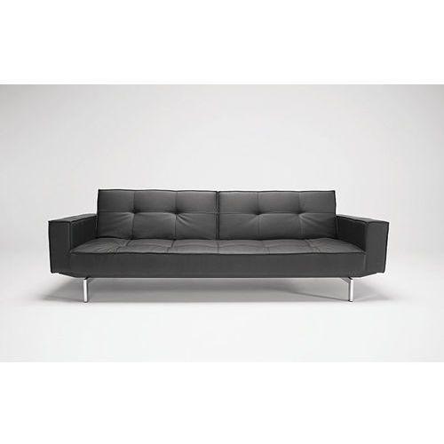 Istyle Innovation Istyle Oz Sofa Rozkładana Czarna Skóra Ekologiczna 235x115 cm (4250268301838)