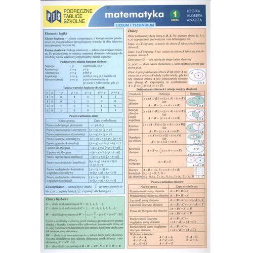 Podręczne tablice szkolne Matematyka 1 Logika Algebra Analiza - oferta [35b7e20b719285eb]