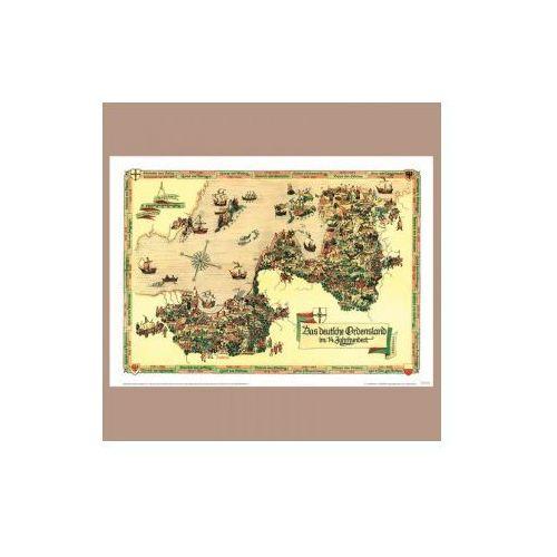 Mapa Państwa Zakonu Krzyżackiego XX - lecie międzywojenne, produkt marki Golden Maps Publishing