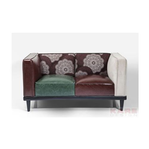 Dressy Sofa 2 Osobowa Wielokolorowa, Skóra Ekologiczna Tkanina - 79520, Kare Design