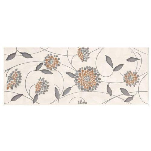 Synthia Grys Inserto Kwiatek 20x50 gat.I (glazura i terakota)