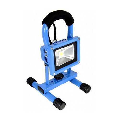 Oferta Lampa halogen LED niebieska 15W zimne światło na stojaku z kat.: oświetlenie